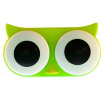 "Lenscase ""Lovezoo"" GREEN OWL"