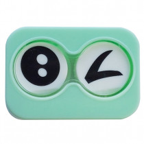 """Lenscase """"Minicase"""" GREEN BLINK"""