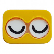 "Lenscase ""Minicase"" YELLOW CLOSED EYE"
