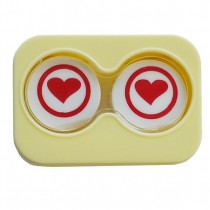 "Lenscase ""Minicase"" YELLOW RED HEART"